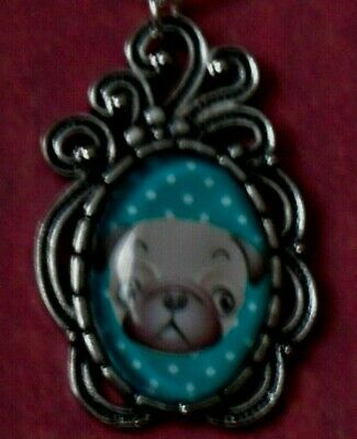 £3.15 • Buy Pug Dog Pendant On A Silver Plate Necklace  528  Dog Necklace Free UK Post !