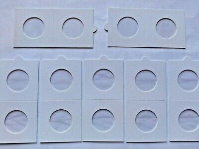 27.5mm Coin Display Holders Self Adhesive, Perfect For 50p / 10p Pence UK STOCK • 1.89£