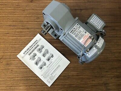 $200 • Buy Brother 3-Phase Gear Motor 1/8 HP 80:1 Ratio Right Angle Drive - BRAND NEW