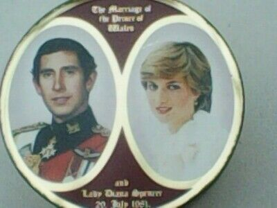 Vintage Travel Sweet Tin  Marriage Of Prince Of Wales & Lady Diana Spencer 1981 • 5£