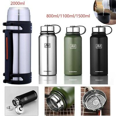 AU23.70 • Buy 0.8-2.0L Vacuum Insulated Stainless Steel Double-Wall Drink Water Bottle Flask
