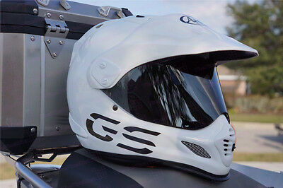 Reflective GS Design Decals For Arai XD4 Motorcycle Helmet - Safety Stickers • 14.24£