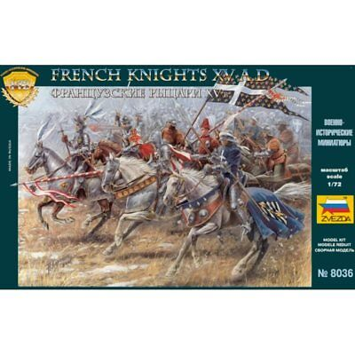 Zvezda 8036 French Knights XV AD 1/72 Scale Plastic Model Figures • 9.95£