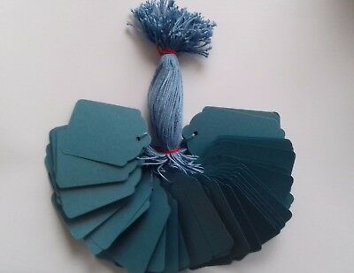 £2.40 • Buy 100 Blue Strung Price Tags 69mm X 44mm Swing Tickets Gift Labels