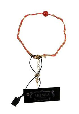 £10 • Buy SH-718 Shimla Bracelet Feature Red Agate Bead Chain Red Cord