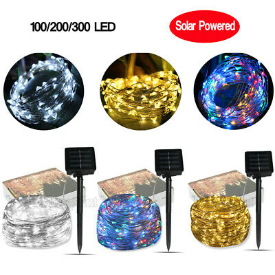 200/300LED Solar String Lights Waterproof Copper Wire Fairy Outdoor Decor UK • 7.89£