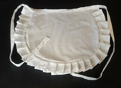 £5.99 • Buy WAITRESS PINNY WHITE COTTON  VINTAGE 50's STYLE HALF Waist Adult And Child Sizes