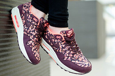 Nike Air Max 1 Liberty Of London QS Burgundy Rare Limited Edition All Sizes • 139.99£