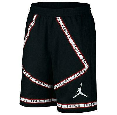 b82acfb1a977 Nike Air Jordan Hbr Taping Shorts Black red white Aj1108-010 • 37.99