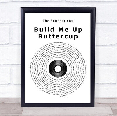 £19.95 • Buy Build Me Up Buttercup Vinyl Record Song Lyric Quote Print