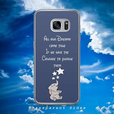 Disney Dumbo Elephant Dreams Quote Hard Phone Case Cover For Samsung Huawei • 4.99£