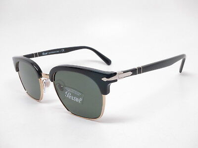 078a19830c86d Persol PO 3199-S 95 31 Black With Green Sunglasses 53mm • 160.65