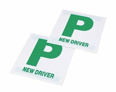 2x High Quality Magnetic P Plates Leaner Pass Driver Easy Removable Sign • 2.25£