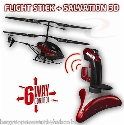 I-Bladez Flightstick And Salvation 3D Helicopter 6 Ways To Control Cool Gagdet • 34.99£