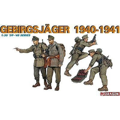 Dragon 6345 German Gebirgsjager 1940-1941 1/35 Scale Plastic Model Figures • 15.95£