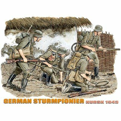Dragon 6174 German Sturmpionier Kursk 1943 1/35 Scale Plastic Model Figures Kit • 16.95£