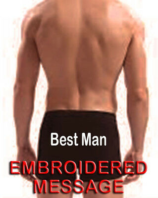 PERSONALIZED MENs BOXER SHORTs UNDERWEAR GROOM BEST MAN USHER WEDDING PARTY GIFT • 9.99£