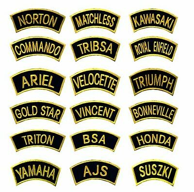 GOLDON Traditional Motorcycle Shoulder Title Patches Badges SewIron On • 1.99£