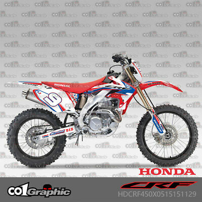 $122 • Buy Graphics Decals Stickers Full Kit For Honda Crf450x 2005-2018