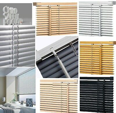 Pvc Venetian Blinds Easy Fit Trimable Home Office Window VENETIAN Blind All Size • 7.49£