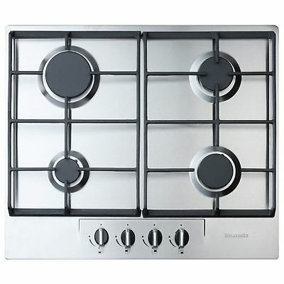 Baumatic BHG620SS 4 Burner 60cm Wide Gas Hob - Stainless Steel • 149£