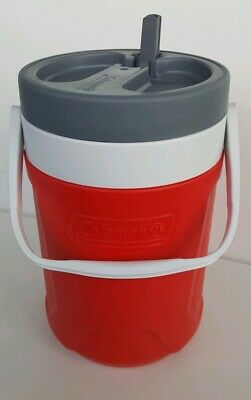 $9.95 • Buy Coleman 1 Gal Jug Cooler Water Ice Chest Faucet Drink Thermos Insulated Red/Gray
