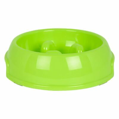 Pet Dog Puppy Slow Feed Feeder Plastic Food Water Bowl Dish Anti Gulp Stop Bloat • 5.99£
