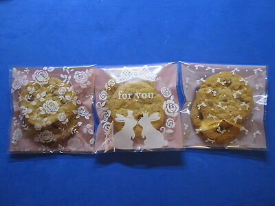 £1.99 • Buy Small/Medium/Large Pink Self Adhesive Seal Bags For Cookie Candy Accessery