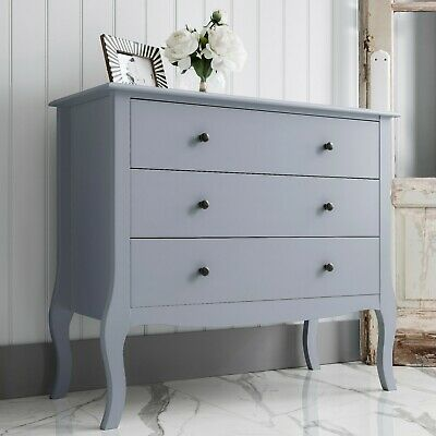Chest Of Drawers Bedside Cabinet Camille In Grey • 99.99£