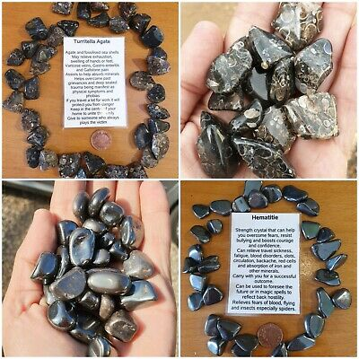 £1.25 • Buy Crystal Tumble Stones Various Available - Buy 4 Get One Free Quartz, Tigers Eye