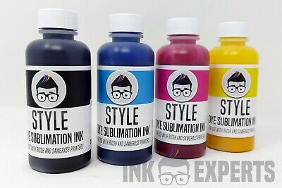 100ml Ink Experts 'Style' Sublimation Ink 4 Colour For Ricoh Printer + ICC • 34£