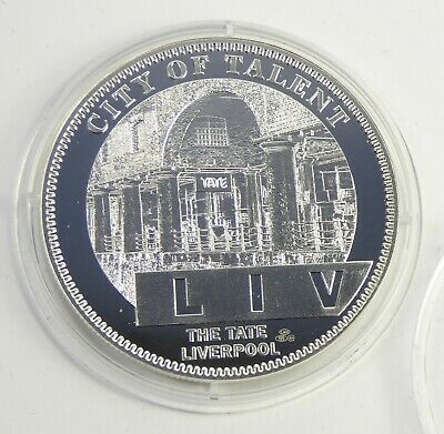 2007 Silver Liverpool 800 Coin - City Of Talent LIV The Tate Liverpool 2018327 • 14.99£