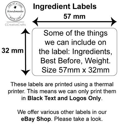 50 Ingredients Labels, Jam, Chutney, Preserve Homemade Stickers • 2.55£