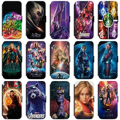Marvel Superheroes Avengers Endgame Faux Leather Case Cover For IPhone Samsung • 8.99£