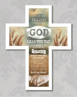 Hold My Hand God - Wooden Message Cross - New Religious Gift  • 15.99£
