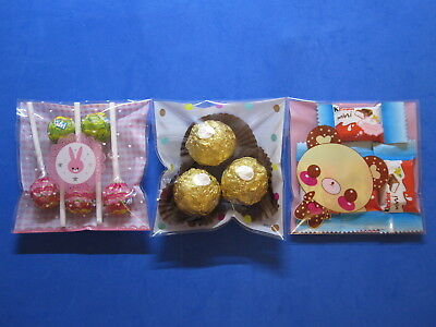 £2.99 • Buy Bunny/Dots/Tedddy Self Adhesive Seal Bags For Cookie Candy Accessery
