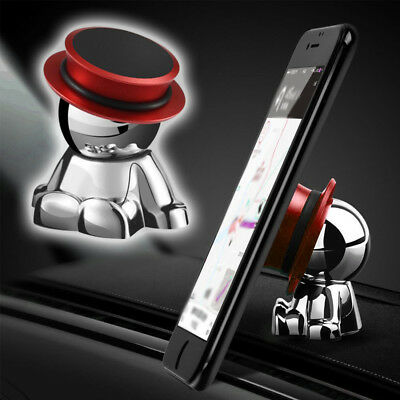 $9.92 • Buy 1x 360° Rotation Red Magnetic Car Dashboard Phone Mount Stand Holder Accessories