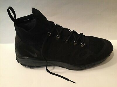 cheap for discount a1230 11dd4 Mens Nike Zoom Talaria Mid Flyknit Sneaker Boots Triple Black Sz 15 NO  INSOLES • 129.99