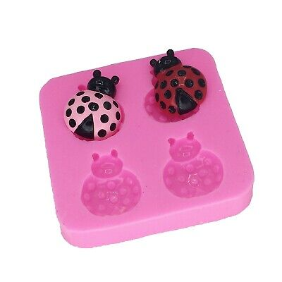 Ladybug Sugarcraft Silicone Mold Branch Insect Fondant Cake Decorating Mould Too • 5.61£