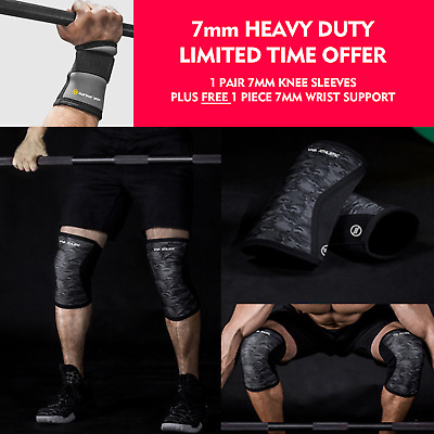 AU45 • Buy Knee Sleeve PAIR Wrist Wrap Strong Crossfit Sbd Squat Training Lifting Recovery
