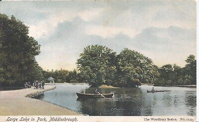 £2.50 • Buy Postcard - Large Lake In Park Middlesborough Posted 1904