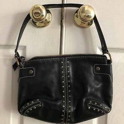334b53be1cabd4 MICHAEL KORS Black Leather Astor Bag Purse W/ Gold Studs • 30.00$