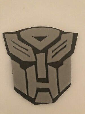 Transformers Edible Face Plaque Cake Topper 4inch Hand Made Icing • 4£