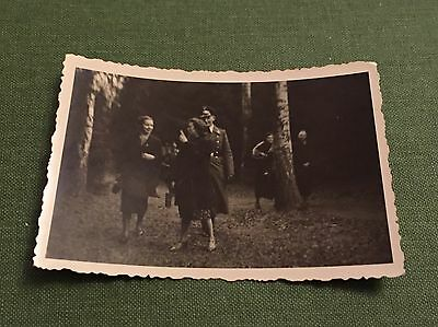Vintage Photograph Social History German Soldier In Uniform With Young Ladies • 2.69£