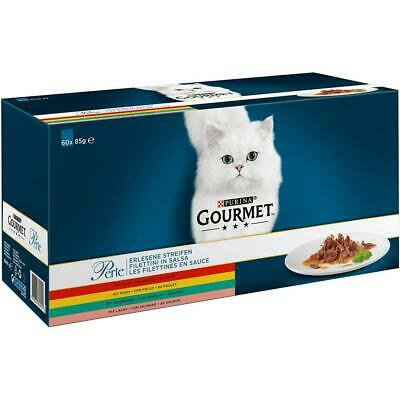 Gourmet Purina Perle Fine Strip With Chicken, Beef, Salmon And Rabbit, Wet...  • 47.99£