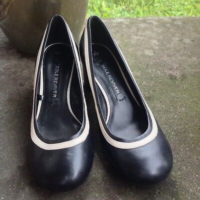 £15.99 • Buy Next Sole Reviver Black Court Shoes Mary Jane Block Heel Uk 4 1/2 Wide BNWT NEW