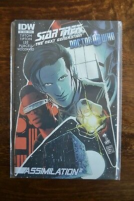 Star Trek The Next Generation Doctor Who Assimilation Squared #4B IDW • 14.99£