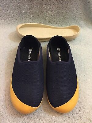 $53 • Buy Mahabis Summer Slippers Removable Sole Size EU 37 Navy With Extra Sole