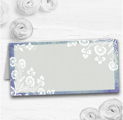 Rustic Blue Lace Wedding Table Seating Name Place Cards • 3.95£