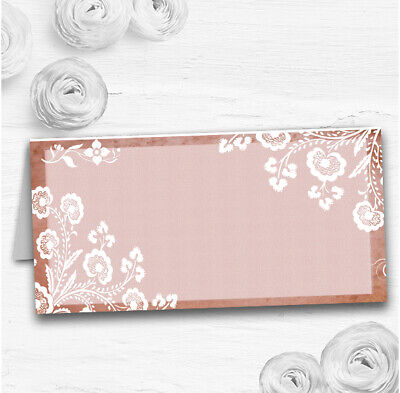Rustic Blush Lace Wedding Table Seating Name Place Cards • 18.95£